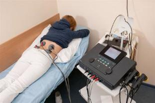 Electrophoresis prescribed to patients for the treatment of lower back pain and inflammation